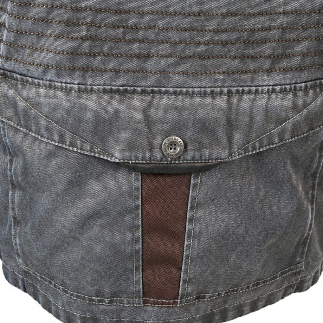 The pocket at the bottom back of the jacket is convenient for carrying larger items.