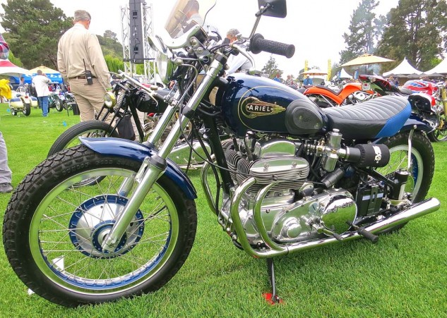 The author's nostalgic favorite (it was his first motorcycle) was Frank Rositani's 1953 Ariel Square Four. Anything can be a bobber.