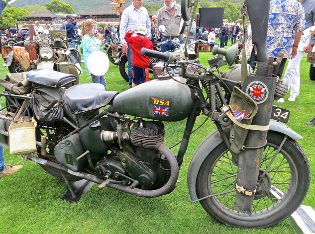 Linda Migliore's 1939 BSA M20 is one of 136,000 produced in England before and during World War II.