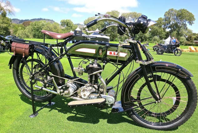 A 1918 BSA Model H was entered for display by Budd Schwab.