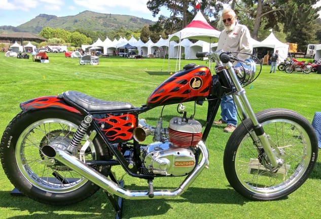 Our second favorite bobber was Gene Worth's '72 Bultaco Alpina, which demonstrates a fine sense of whimsy.