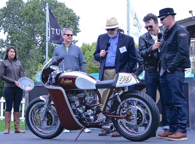 First place in Custom/Modified was the lovely 1951 Indian Scout by Tony Prust of Analog Motorcycles in Illinois.