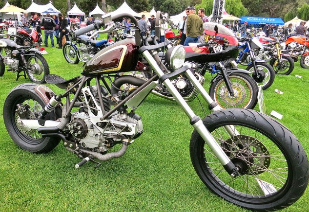 And what show worth its salami would be complete without a Ducati chopper?