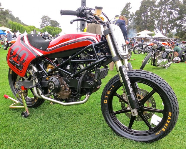 A nicely formed Ducati Monster as street tracker from A. Earle.