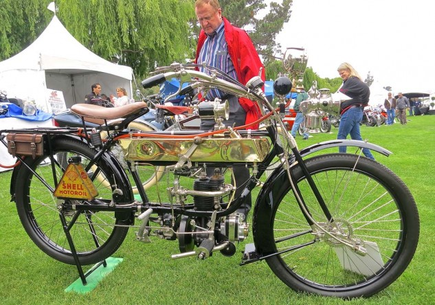 The 1914 FN (Fabrique National) 244cc 2-speed Single from France was on offer at $65,000 from Bator International.