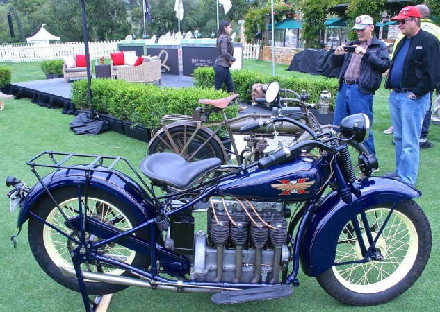 Chris Carter's 1929 Henderson Four took second place in the Antique class.