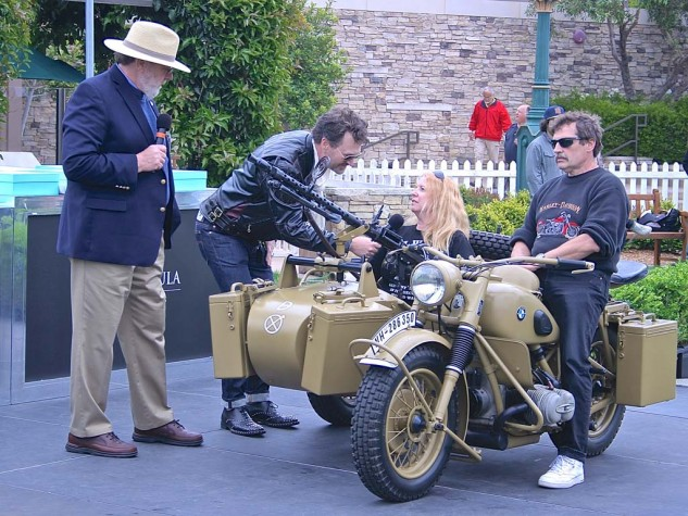 Military honors went to the 1942 BMW R75 Wehrmachtsgespann entered by Ziggy and Lisa Dee.