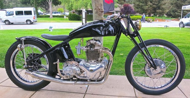 The tidy Norton bobber (which sounded great) from The Gasbox in Lakewood, Ohio, took second in Custom/Modified.