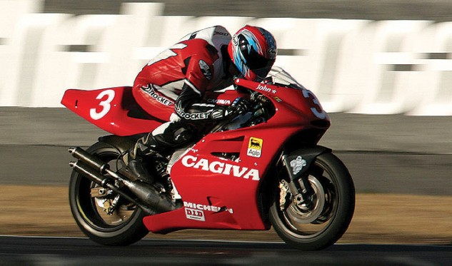 The Cagiva V593 accelerated faster than anything the author has ridden, including all of the World Superbikes.