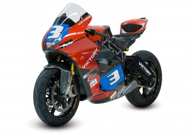 """The """"Brammo Power"""" sticker on the fairing, in the shape of a battery, is indicative of where the former motorcycle manufacturer is refocusing its efforts."""