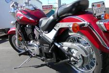 The 800 Classic is one of the few cruisers where it was more appropriate for the bike to wear the chain rather than its rider.