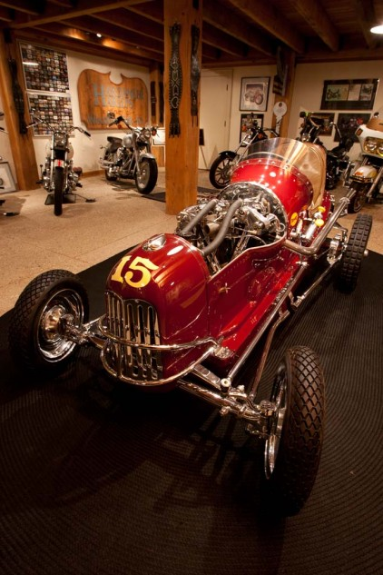 "Willie's late-1930s Drake midget racer is powered by anl EL ""Knucklehead"" engine. Courtesy of: Willie G. Davidson"