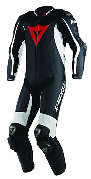 The D air Misano suit. The rider's movements are monitored constantly, and when an imminent crash is detected, a sophisticated algorithm is used to trigger a Cool Gas Generator. The suit also includes a data-acquisition feature that monitors riding performance. Information on lap times, speed, acceleration, braking distances and cornering lines can be downloaded to a computer.