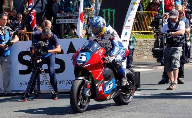 Guy Martin was a last-minute replacement for William Dunlop.