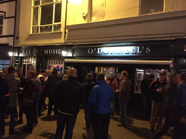 Strand Street in Douglas is the main shopping drag by day, the main drinking drag by night. O'Donnells rocks.