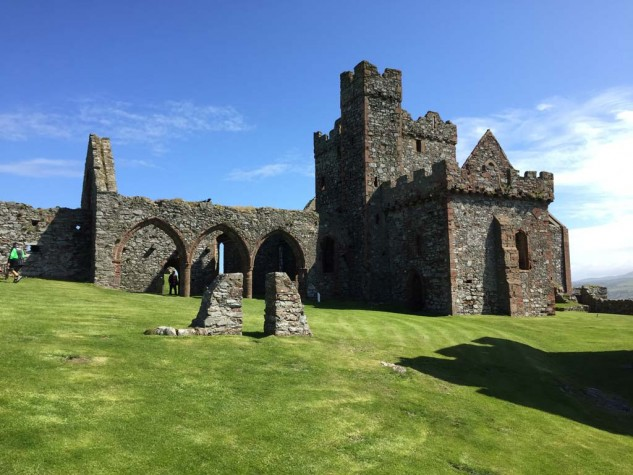 "Peel Castle is really old. The excavated 10th century grave of ""The Pagan Lady"" included a fine example of a Viking necklace and a cache of silver coins. The Castle's most famous ""resident"" is the so-called Moddey Dhoo or ""Black Dog"" ghost."