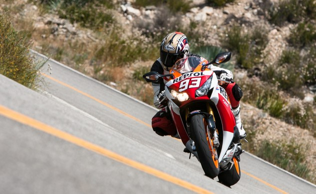 Resplendent in its Repsol racing livery, 2015 CBR1000RR SPs come in your choice of Marc Marquez or Dani Pedrosa numbers.