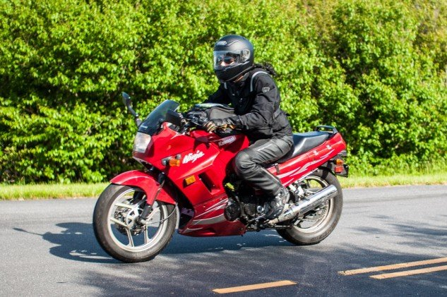Sure you could take a Kawasaki Concours on tour, but a Ninja 250 seems to work just as well.