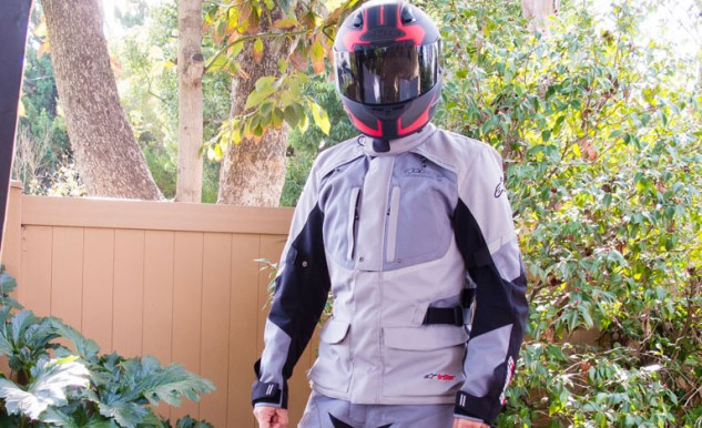 Touring gear, like this Alpinestars Andes Drystar suit, needs to be able to handle a wide variety of weather conditions.
