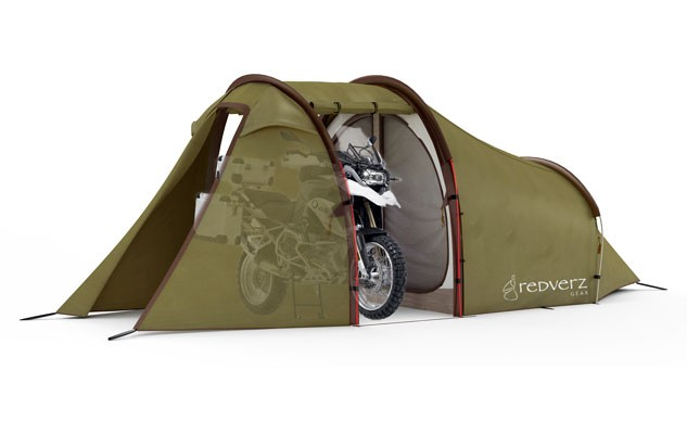 If you must absolutely have a garage attached to your home-away-from-home, the Expedition Tent by Atacama fits the bill.