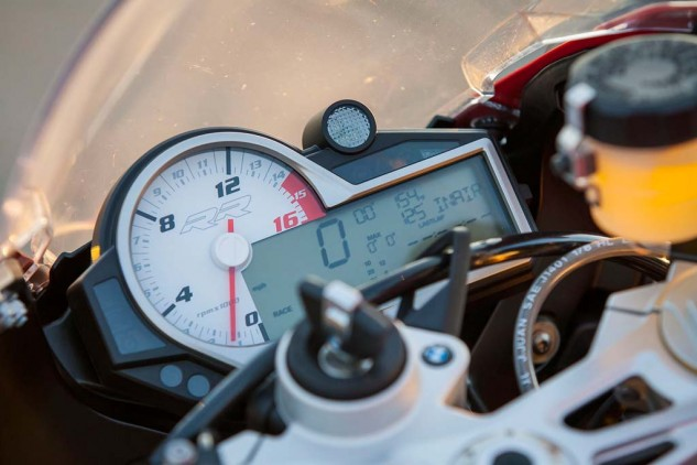 "The BMW's gauge cluster has a lot of info wrapped up in a small LCD screen that Siahaan says is the most intimidating. ""I'm sure if this were my only bike and I had a chance to thoroughly read the owner's manual I'd learn it all, but to simply hop on and ride, it's confusing."""