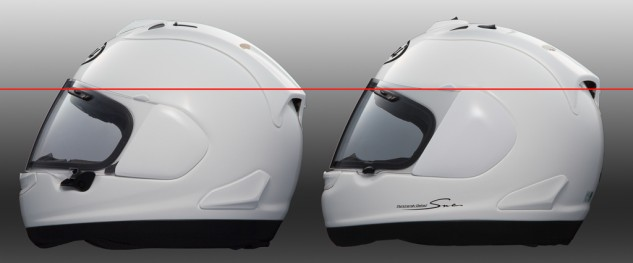 Arai Corsair-X visor pivot point