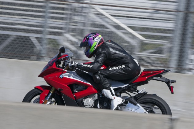 Straights are much shorter and ascents hardly exist when you're riding something as powerful as the BMW S1000RR.