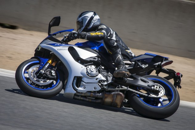 """Yamaha's tagline for the new R1 is """"MotoGP for the street."""" It would appear Doug Chandler agrees, """"The new R1 felt the closest as far as a real race bike out of the box – its seat height and how it would want to turn into the corner for you just reminds me of a race bike."""""""