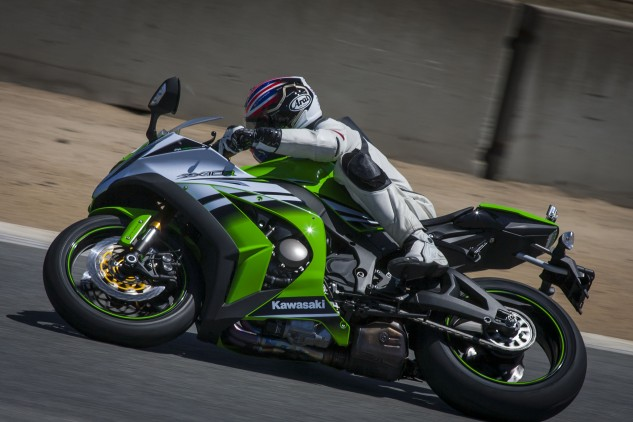 Kevin was particularly impressed with the ZX-10R's stability on corner entry, even when still hard on the brakes.