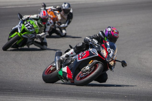 From nearly all performance-related aspects, the Aprilia is seemingly light years ahead of the old Kawasaki and even older Honda.