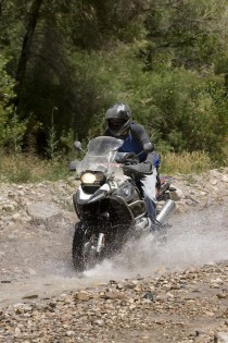The GS makes quick work of this kind of terrain.