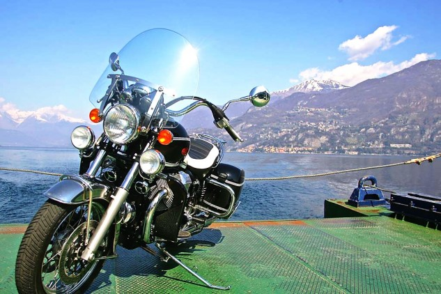 Say you're waiting for the ferry at Lecco, ready to float the Guzzi up to Bellagio and ride down to Como. Then along the western edge of the lake, a young lady compliments you on the bike. Her name is Gina, and she's fascinated to know that you're related to George Clooney… (Another story.)