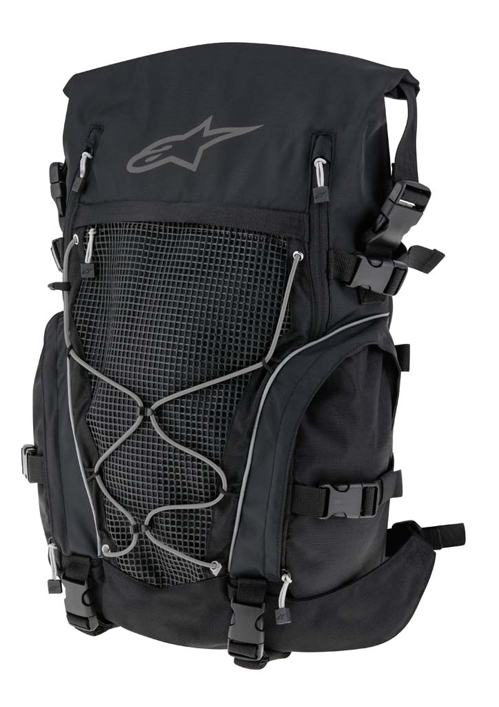 The Orbit incorporates new innovations such as the advanced load carrying system, which evenly distributes weight across the back, and free-moving anatomical shoulder straps. The Orbit also features a waterproof chassis and a versatile roll-top closure system. MSRP: $199.