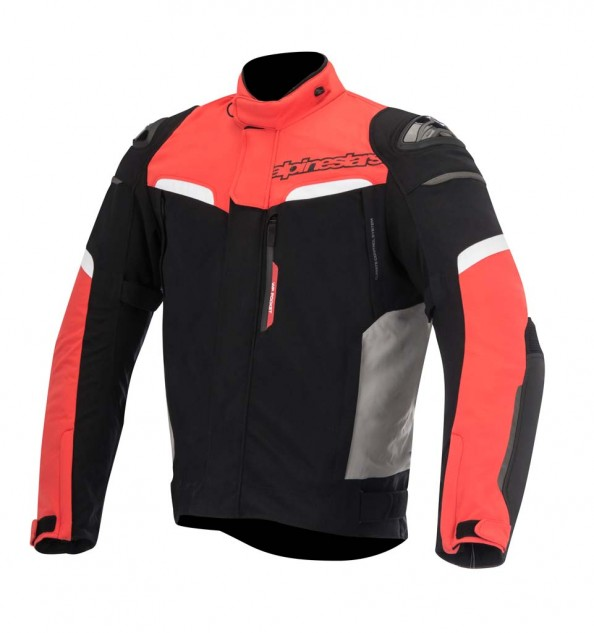 The multi-material Pikes Drystar jacket is constructed from a reinforced polyamide main shell and incorporates Alpinestars' full-length, waterproof lining as well as a removable thermal liner. Colors: Black, Black/Red. Sizes: S-4XL. MSRP: $429.