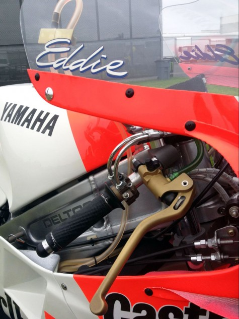 There's not stinkin' TC on the 1986 YZR500 OW81 Ed rode to seven wins and the 1986 500cc World Grand Prix Championship.