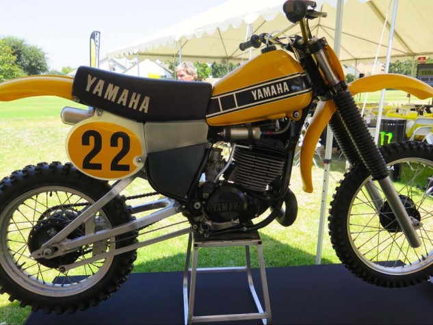 Hurricane Hannah's '79 YZ250 was high-tech as it got at the time.