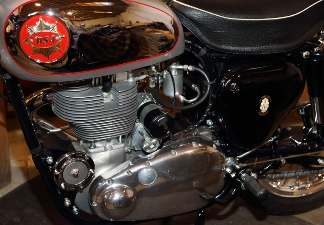 """Everyone wants a Goldie,"" says Talbott of this 1961 BSA Gold Star Clubman. ""I waited years to get the right one. This is a 98-point Concours bike."""