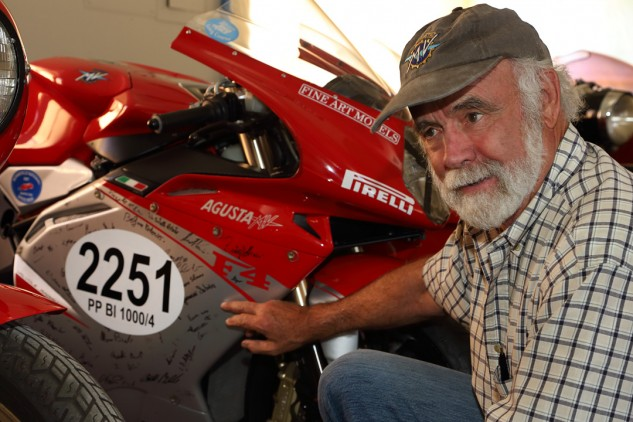 """Talbott studied art in college, and perhaps no motorcycle speaks to him like the MV Agusta F4, which was featured in the Guggenheim's """"Art of the Motorcycle"""" exhibit and has been called one of the most beautiful motorcycles in the world. This special edition is one of only a few dozen examples."""