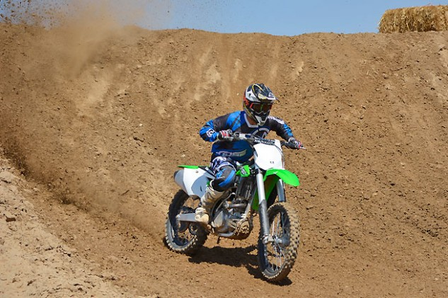 The KX450F's chassis is still arrow-stable at motocross speeds, and we have a strong suspicion it would also make a great desert racing bike. Kawasaki is famous for being a preferred brand in high-speed off-road racing as well as motocross. A KX450F-mounted team won the SCORE Baja 500 this past June.