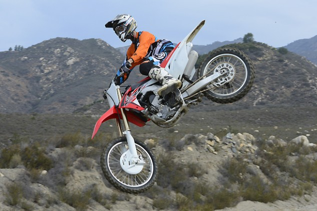 Honda's new CRF250R is flying higher than ever, thanks to its improved engine and revised suspension. We won't be shocked if it finds itself at or near the top of the 250cc motocross class in 2016.