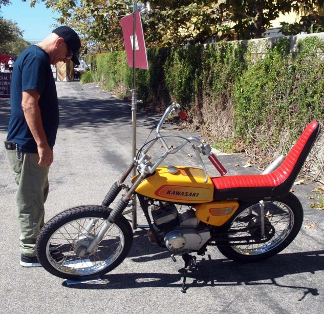 Paul's Pick of What the F&%! Bike. Worth the price of admission just for the 1970s candy metal-flake chopper seat.