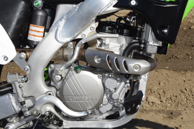 The Kawasaki's fuel-injected, 249cc, DOHC engine received a minor change in the form of a stronger bolt in one area inside the engine. Otherwise, it is the same mid-range monster as last year.