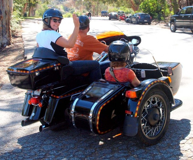 Best Three-Up Bye Bye. See ya next year at the 45th Griffith Park Sidecar Rally.