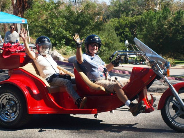 Best Tandem Flyer. This VW-powered trike was another alternative vehicle attracted to the event.