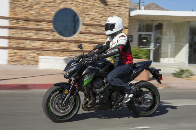 Kawasaki research says half of those who purchase a Z will commute with it. The comfortable seating position lends itself well to commuting duties, though I personally would add more cushioning to the seat's forward-most edge.