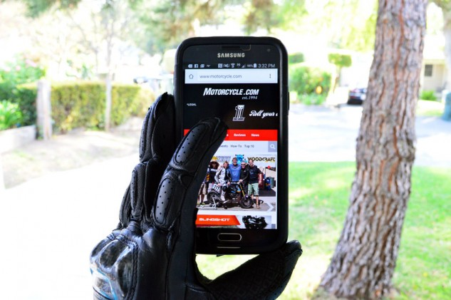 Of course, you don't have to use the SP-2 gloves strictly for punching in coordinates or phone numbers. You can check out Motorcycle.com, too!