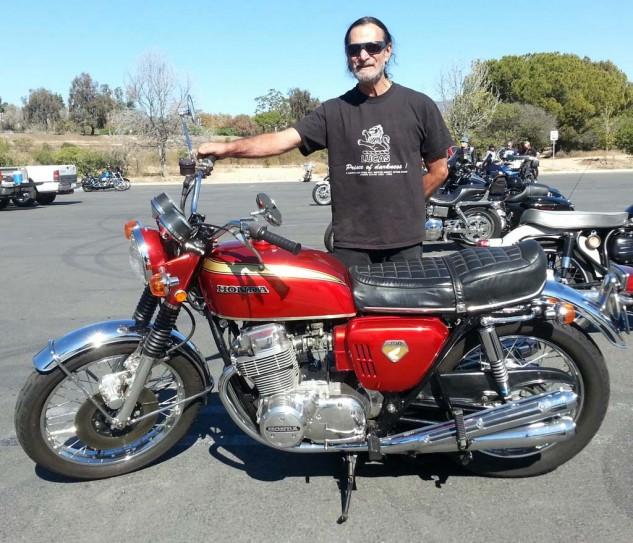 Best Longest Owner: 1970 Honda CB750 has been ridden by Kurt Winter of Valley Cycles (Chatsworth, CA) since 1971. Early CBs are fetching serious sums including parts; a mint NOS seat draws $2k.