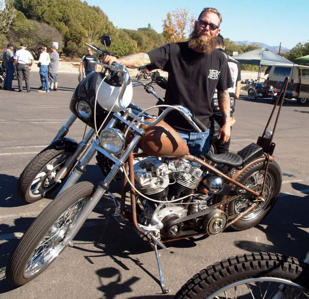 Best O.G. Shovel Chopper: Brandon rumbled in on his '82 Shovelhead done Old School with open primary, sissy bar and we-don't-need-no-stinkin'-flashy-paint job.