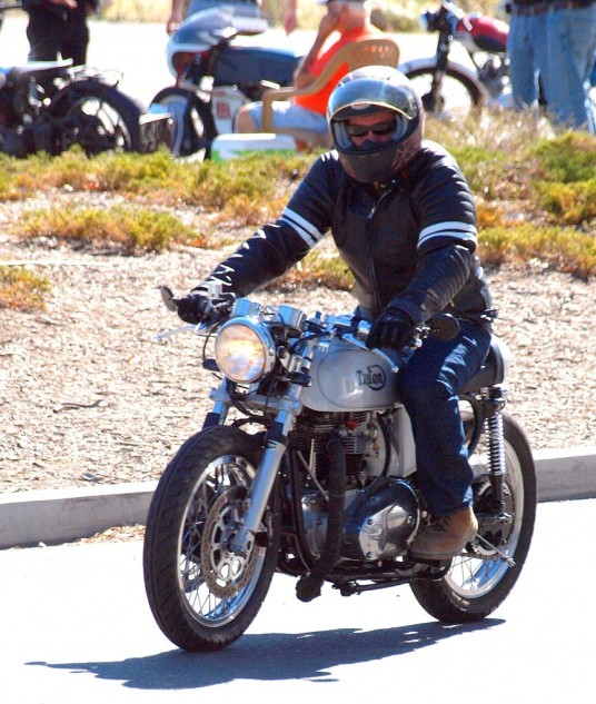 Best Home Grown Debut Bike: Hollywood studio sound technician Mark Morrell's 1962 650cc Triumph-powered Triton. As for the Triumph vertical-Twin powerplant, he traded a boat motor for it.