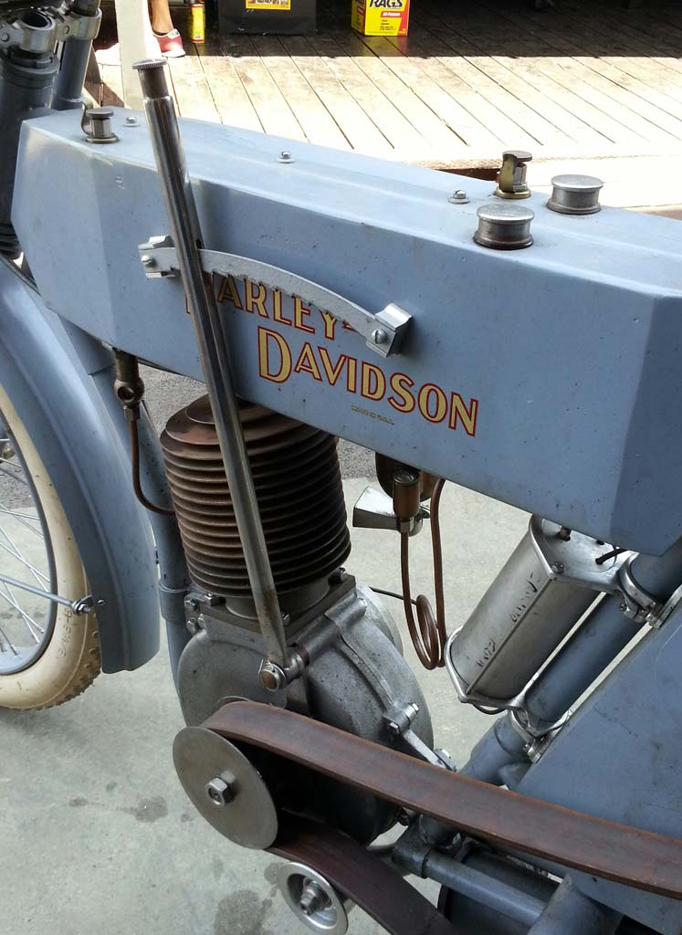 1909 H-D Silent Gray Fellow just acquired by the shop is in line for full restoration.